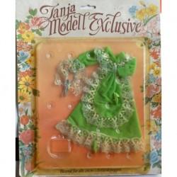 Vestito Modello Esclusivo verde per bambola Tanya