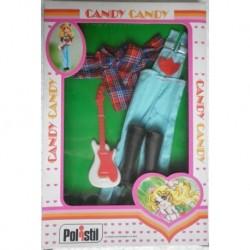 Vestito Salopette con chitarra per Bambola Candy Candy