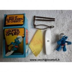 4.0215 40215 Schleich Peyo Super Smurf Puffo con windsurf 1980