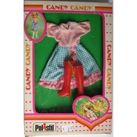 Vestito rosa e azzurro per Bambola Candy Candy