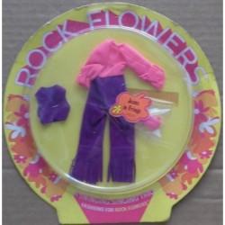 Mattel Rock Flowers Vestito Jeans in Fringe