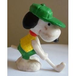 Personaggio Snoopy giocatore di golf miniatura