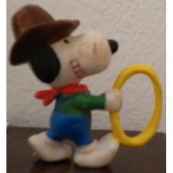 Personaggio Snoopy cowboy miniatura