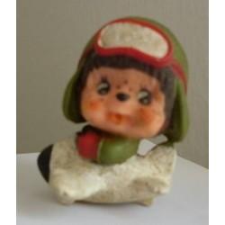 Sekiguchi miniatura pupazzo Moncicci Monchhichi pilota d'aereo 1979
