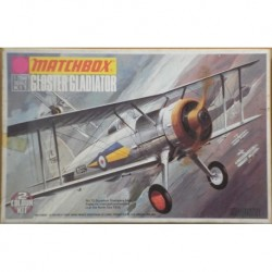 Matchbox aereo da guerra Gloster Gladiator 1/72 1973