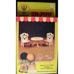 Ceppiratti tavolo e sedie per bambola Bijou