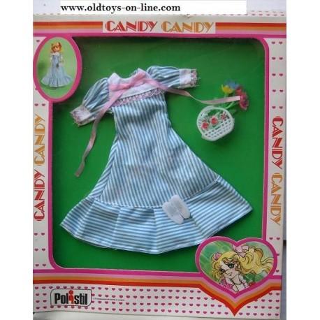 Vestito righe azzurre per Bambola Candy Candy