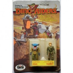 Dino Riders personaggi Finn & Turret