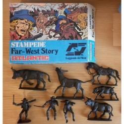 Atlantic soldatini serie Storia del West Stampede 1/32