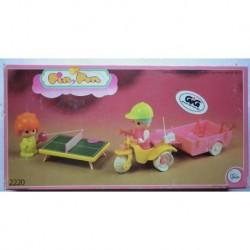 Pin y Pon miniature Triciclo con rimorchio 1 serie 1984