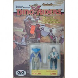Dino Riders personaggi Six Gill & Aries