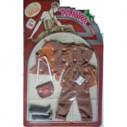 Vestito Leather pelle per bambola Tanya