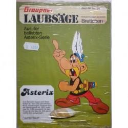 Goshinny e Uderzo personaggio Asterix traforo in legno