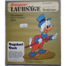 Walt Disney personaggio Zio Paperone traforo in legno
