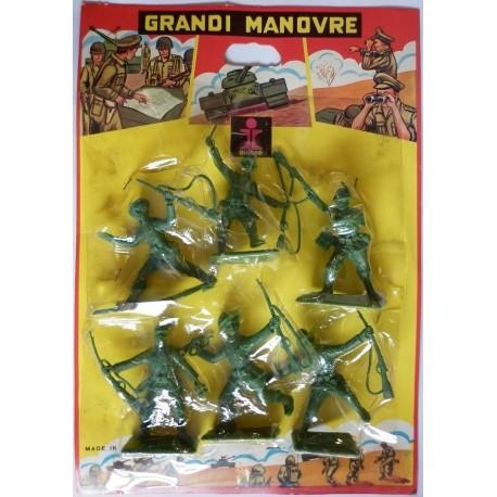 Dulcop Grandi Manovre soldatini Alpini e Bersaglieri 1/32