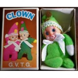Pupazzo fiammiferino Clown verde