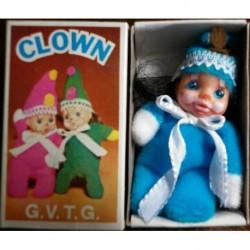 Pupazzo fiammiferino Clown azzurro