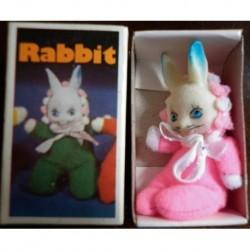 Pupazzo fiammiferino Coniglio rosa