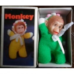 Pupazzo fiammiferino Scimmia verde
