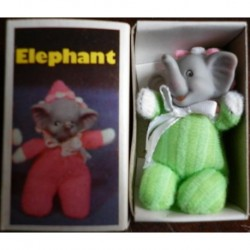 Pupazzo fiammiferino Elefante verde