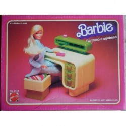 Barbie Dream Furniture scrittoio e sgabello 1978