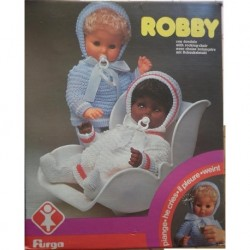 Bambola Robby con dondolo bambolotto che piange
