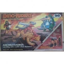 Dino Riders Anchilosaurus con personaggio Sting 1987