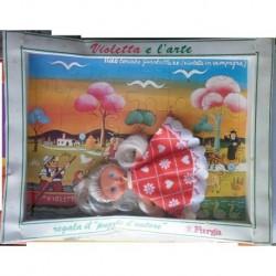 Furga bambola Violetta e l'arte con puzzle quadro 1972