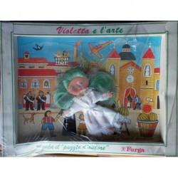 Bambola Furga Violetta e l'arte con quadro puzzle 1972