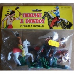 Soldatini Luca Indiani a cavallo 1/32