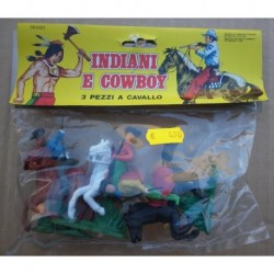 Soldatini Luca Cowboys a cavallo 1/32