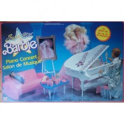 Mattel Barbie Super Star Piano Bar 1989