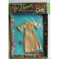 Topper cappotto dorato per bambola Dawn Le Fotomodelle