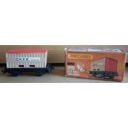 Matchbox vagone con container 1977