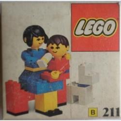 Lego B211 Mamma con bambino 1976