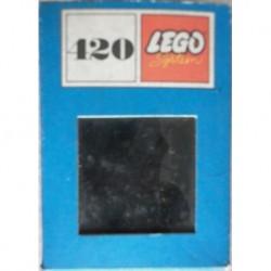 Lego 420 brick 2x2 neri 1966