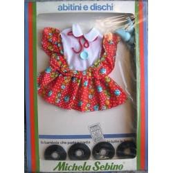 Vestito a fiori per bambola Michela con dischi Zecchino d'Oro