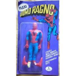 Personaggio Uomo Ragno Spiderman flessibile blister 1980