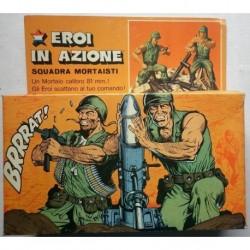 Eroi in Azione soldatini Squadra Mortaisti 1974