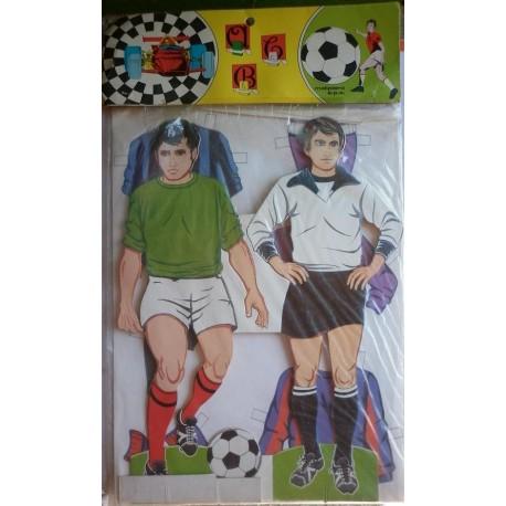 Malipiero calciatori da vestire bambole di carta