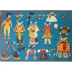 Bambola di carta con corredo Ed. Carroccio anni 50/60