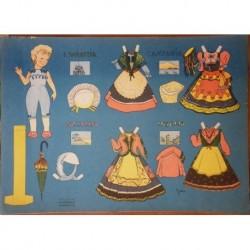 Bambola di carta con corredo regioni italiane Carroccio 1