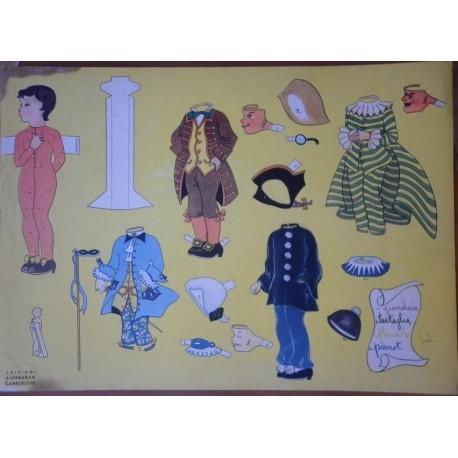 Bambola di carta con vestiti di carnevale Ed. Carroccio 1