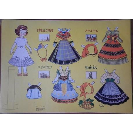 Bambola di carta con corredo regioni Italiane Ed. Carroccio 2