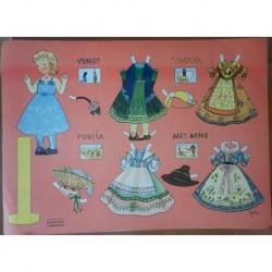 Bambola di carta con corredo regioni italiane ed Carroccio 3