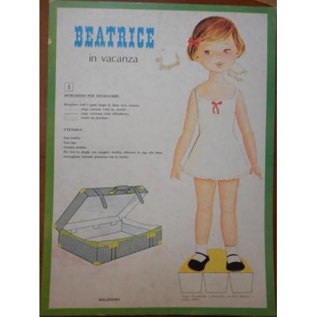 Malipiero bambola di carta Beatrice in vacanza 1969