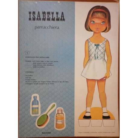 Malipiero bambola di Carta Isabella parrucchiera 1969