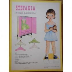 Malipiero bambola di carta Stefania e il suo guardaroba 1969