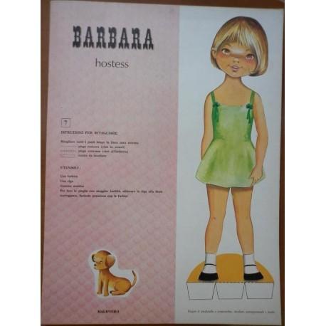 Malipiero bambola di carta Barbara hostess 1969