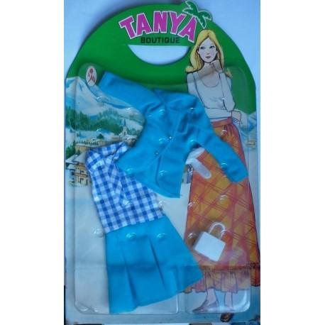 Vestito Boutique completo turchese per bambola Tanya